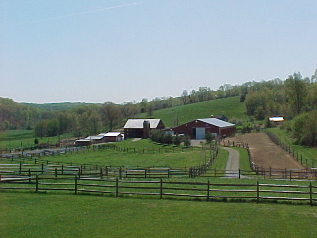 view of back of farm